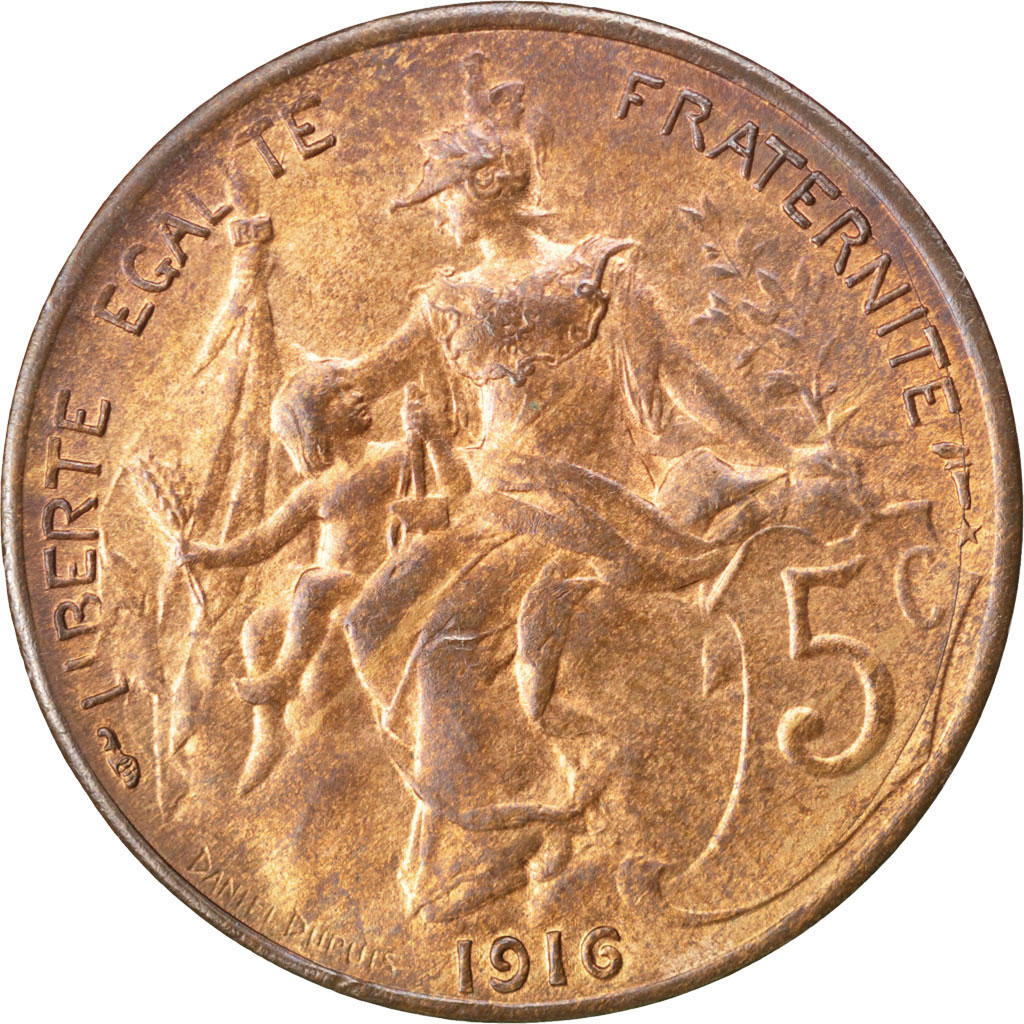 5 Céntimos Franco. Francia (1920) 82813_iiieme-republique-centimes-dupuis-1916-etoile-842-revers