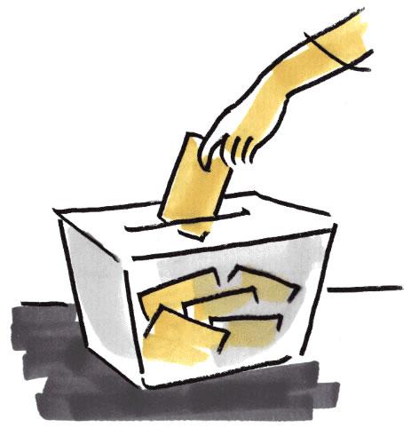 MAÑANA 25 DE MAYO ELECCIONES EUR0PEAS ... HOY JORNADA DE REFLEXION. Urna-elettorale