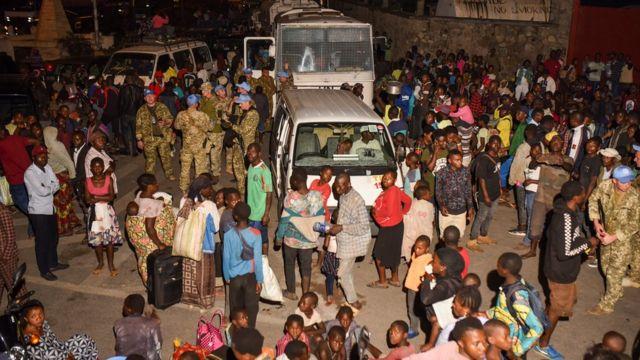 ERUPTION DE NYIRAGONGO, UNE HORRIBLE CATASTROPHE NATURELLE QU'ON NE PEUT VAINGRE ? Nyiragongo-exode