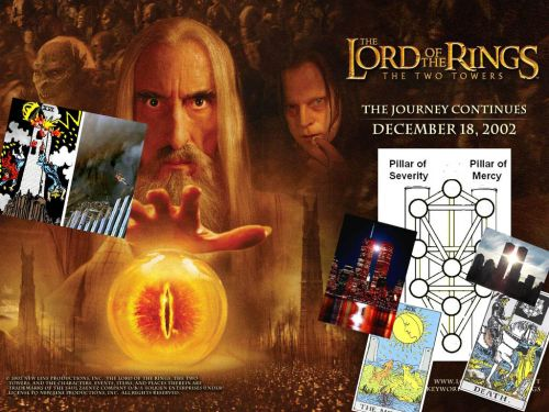 The Lord Of The Rings/Flat Earth Connection   The-two-towers-rings-kabbalah