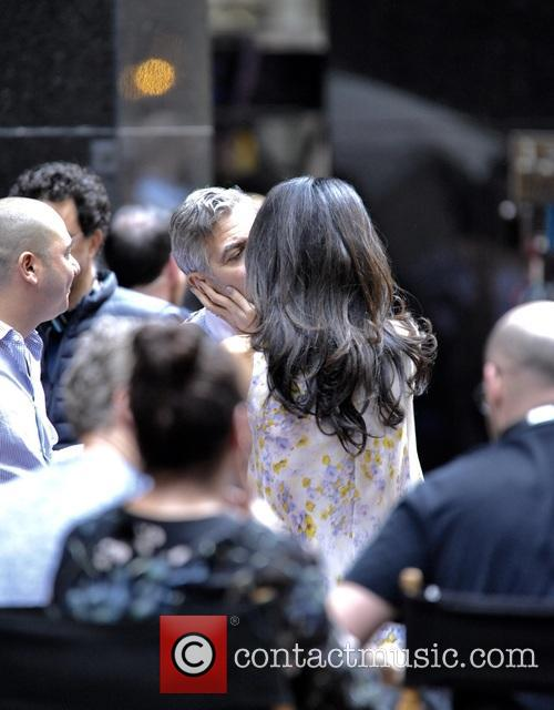 George Clooney on location: Money Monster NYC April 18, 2015 Amal-clooney-george-clooney-amal-clooney-visits-her-husband_4684648