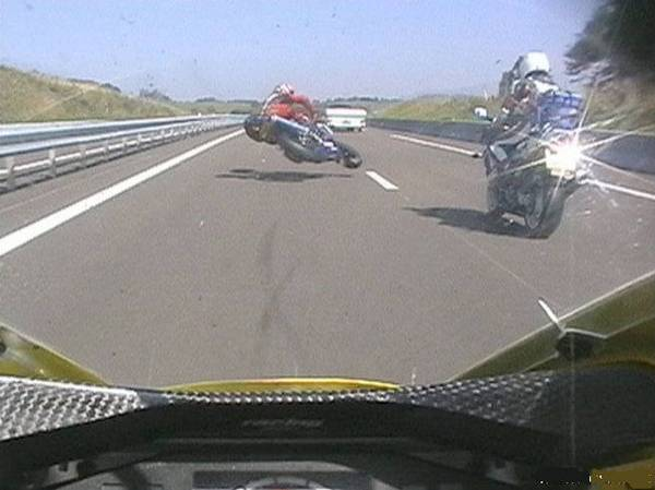 BMW GS Accident-moto-autoroute
