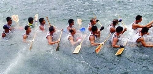 Les images drôles sur le sport Course-canoe-coule