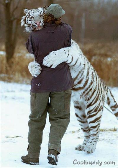صورة لمنحرف يحضن فتاه في شارع عام Warm_hug