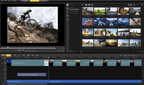 عملاق برامج المونتاج على الإطلاق لتحرير الفيديو باحترافيه وإضافه المؤثرات الرائعه اليه Corel VideoStudio Pro X4 14.1.0.150 بحجم 871 ميجا وعلى اكثر من سيرفر  Vspx4-main-editing-interface