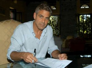 George Clooney back in Viterbo, Italy - 10 May Clloney7-600-300x221