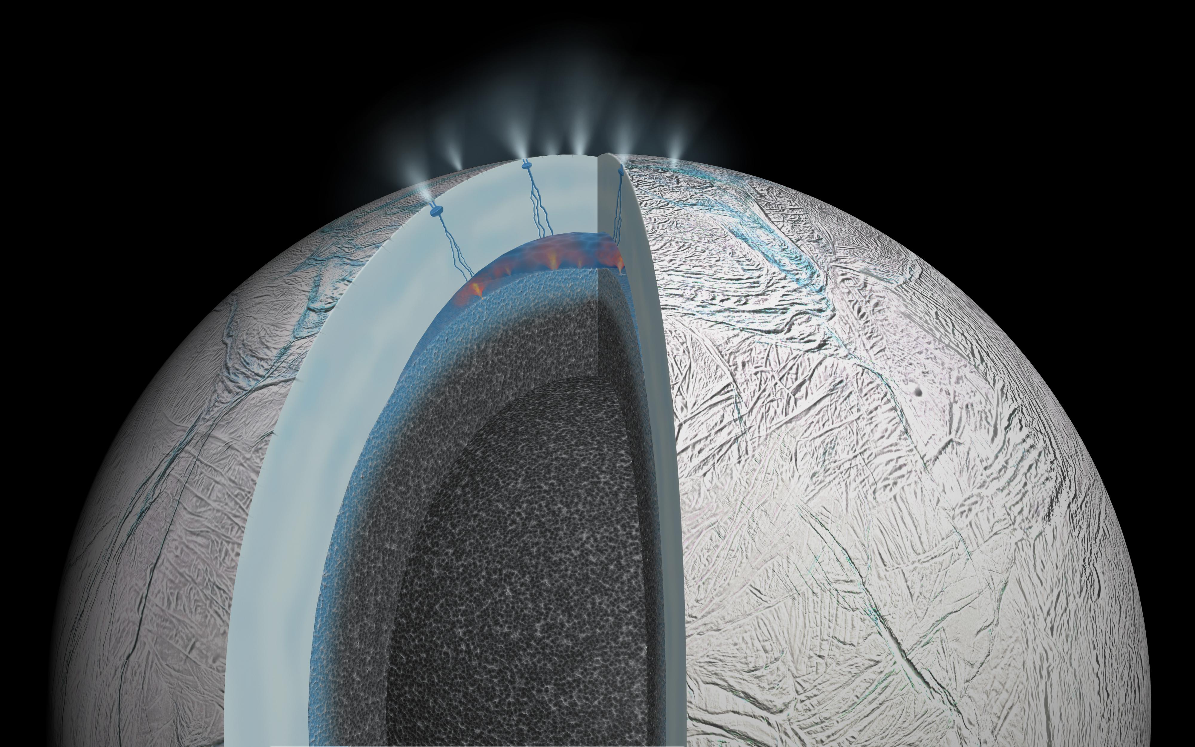 Según la NASA podría haber vida en Encélado, una de las lunas de Saturno Actividad-hidrotermal-encelado
