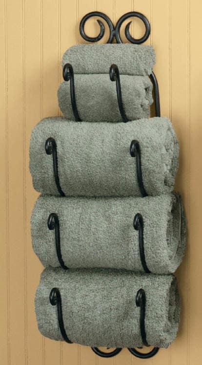 افكار جميلة لبيت منظم  Bath-towel-holder