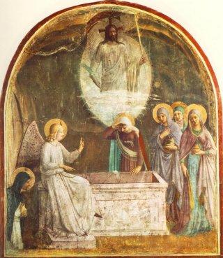 SAINTES ET JOYEUSES PÂQUES À TOUS MES AMIS(ES) DU FORUM ! Resurrection-fra-angelico