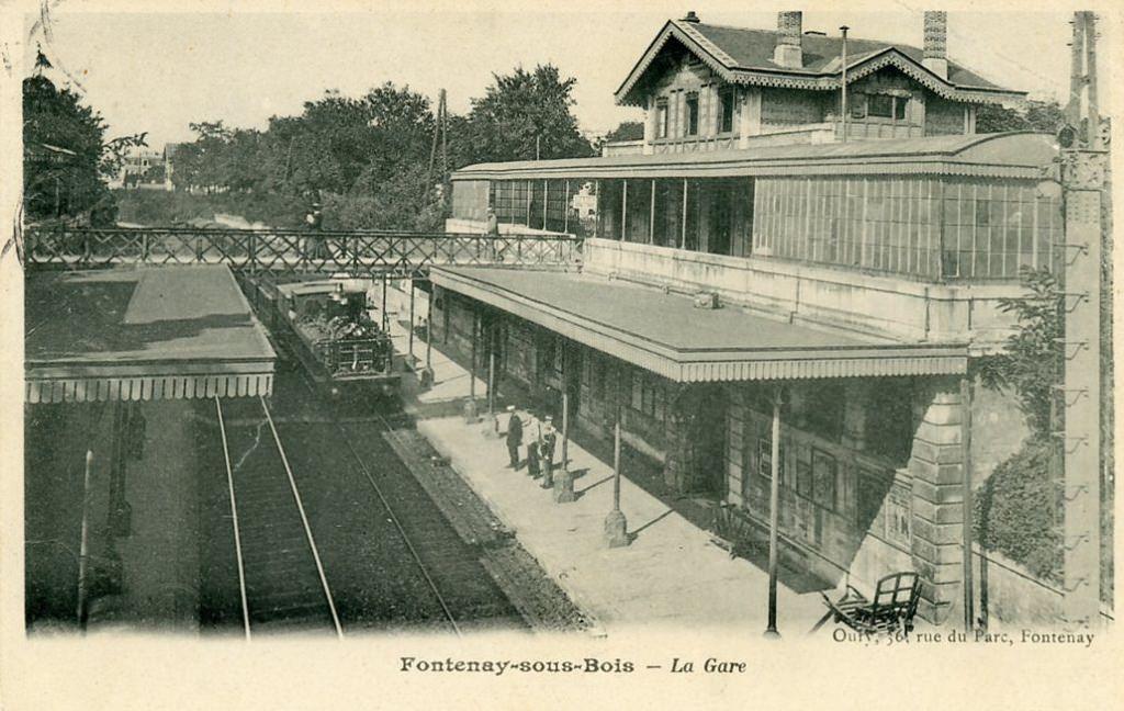 Ligne de la Bastille, ancëtre du RER de Saint-Mandé à Boissy-Saint-Léger 1337849205-Fontenay-sous-Bois-la-gare