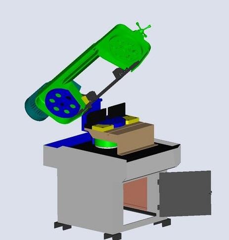 fabrication d'une scie a ruban pour métaux D10