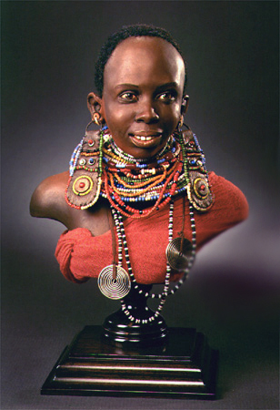 buste d elfe par jennifer haley Maasaiwoman