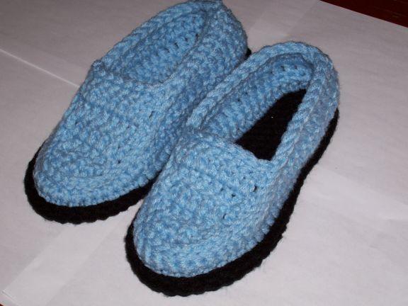 Moccasin Slippers - crochet Mocslip1
