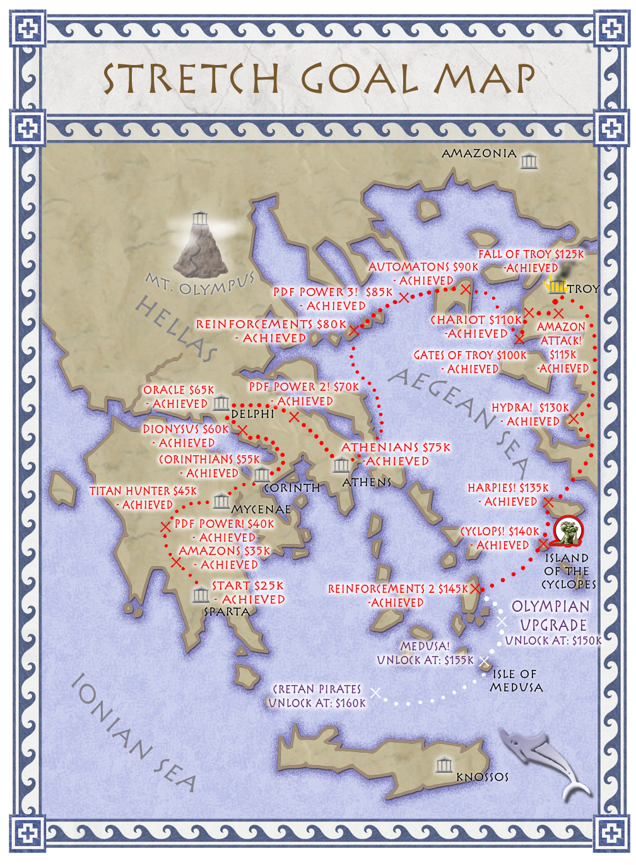 Wargods of Olympus Map-Large