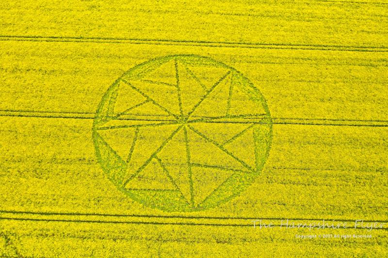 Crop Circles 2021 -  Stanton St Bernard, Nr Alton Barnes, Wiltshire. Reported 10th May. Hampshire10052021a