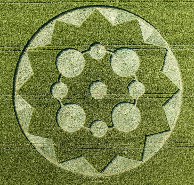 Crop Circles 2021 -  Eclipse Crop Circle, Wooton Rivers, Wiltshire DJI_0524