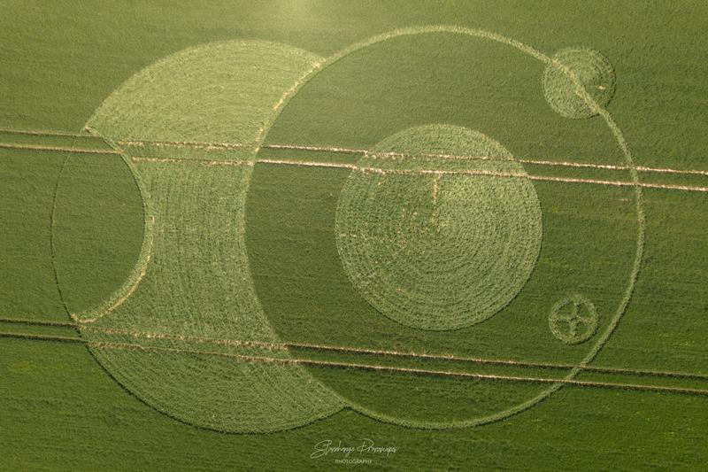 Crop Circles 2021 -  Eclipse Crop Circle, Wooton Rivers, Wiltshire DJI_0554-2