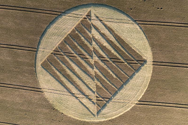 Crop Circles 2021 -  Nun's Walk, Nr Tufton, Hampshire. Reported 20th July.  DJI_0936