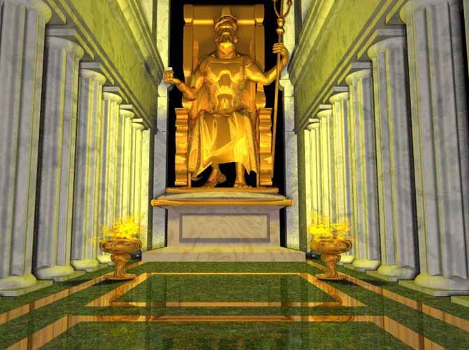 أساطير أغريقية .... - صفحة 3 Zeusgoldstatue