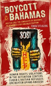 Cubane con la bocca cucita..alle Bahamas.. 20-de-junio.-cartel-boicot-miami-178x300