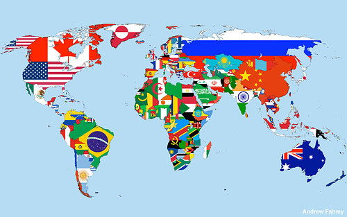 DE DONDE SOMOS ? - Página 2 Mapamundi-banderas