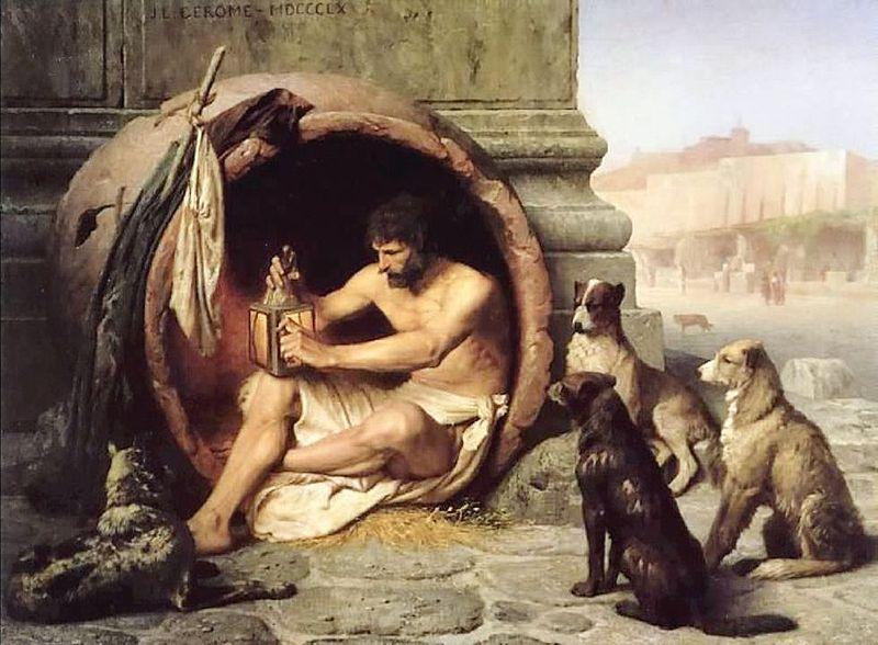 Y si todo fuese un sueño... 800px-Gerome_-_Diogenes