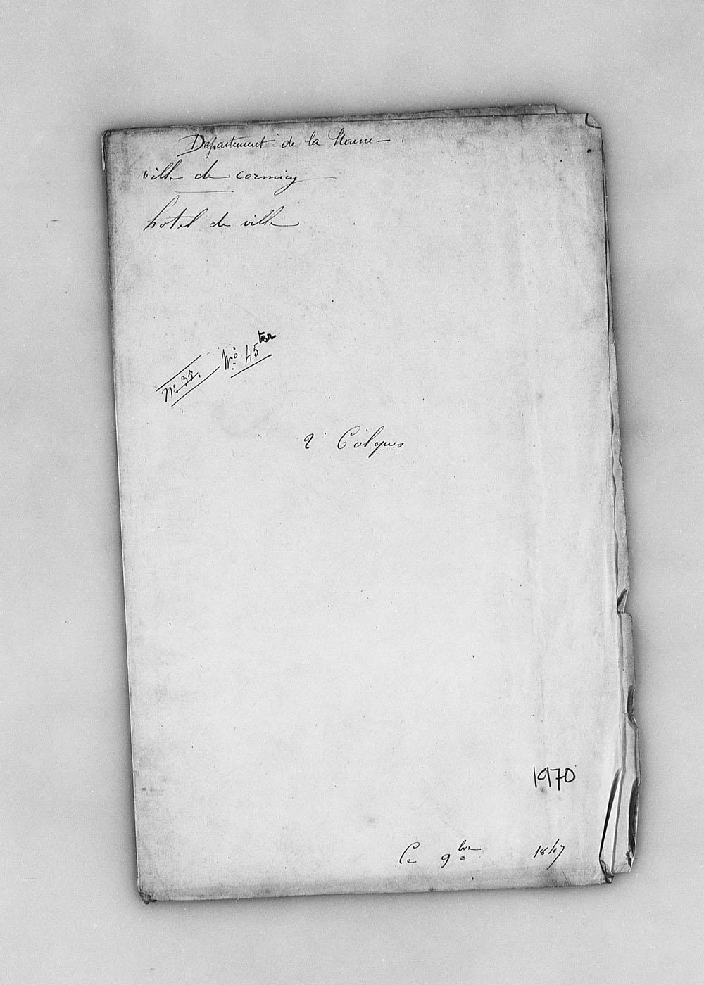Plan de l'hotel de ville de Cormicy (1847) Dafanch07_f211890j1970v001-p