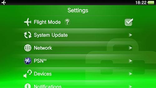 Tutoriels pour la PS-VITA PS-Vita-Flight-Mode-Avion-On