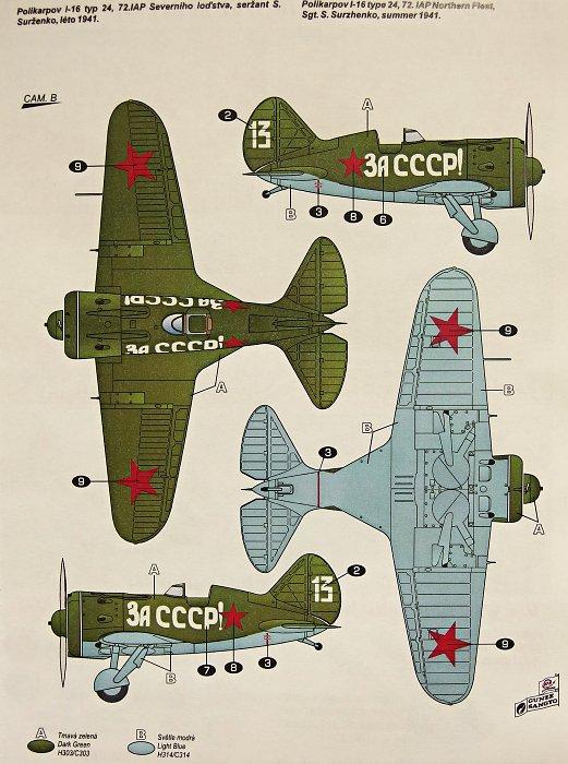 """L'Aviation Russe"" Polikarpov I-16 type 24, ICM 1/32 0251381"
