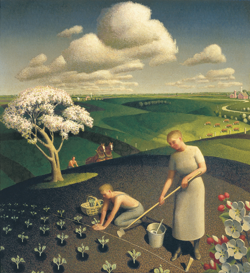 Goth-Country, el sonido western del apocalipsis Spring_in_the_Country-Grant-Wood-1930