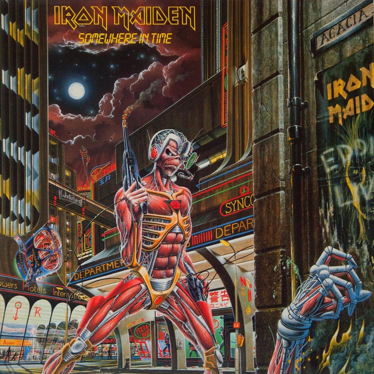Pochette Iron Maiden Iron-maiden-somewhere-in-time