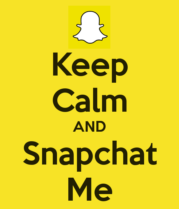 SnapChat Keep-calm-and-snapchat-me-82