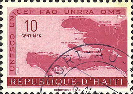 Landkarten auf Briefmarken Haiti440