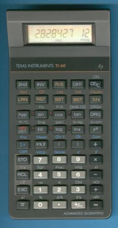 Les premières TI programmables 2/2 TI-60_RCI2087
