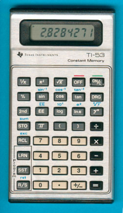 Les premières TI programmables 2/2 TI-53