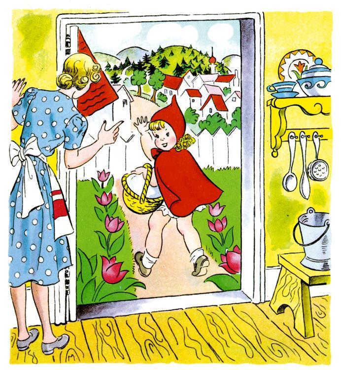 ذات الرداء الاحمر - قصة وحدوتة للاطفال رائعة بالصور Littleredridinghood2