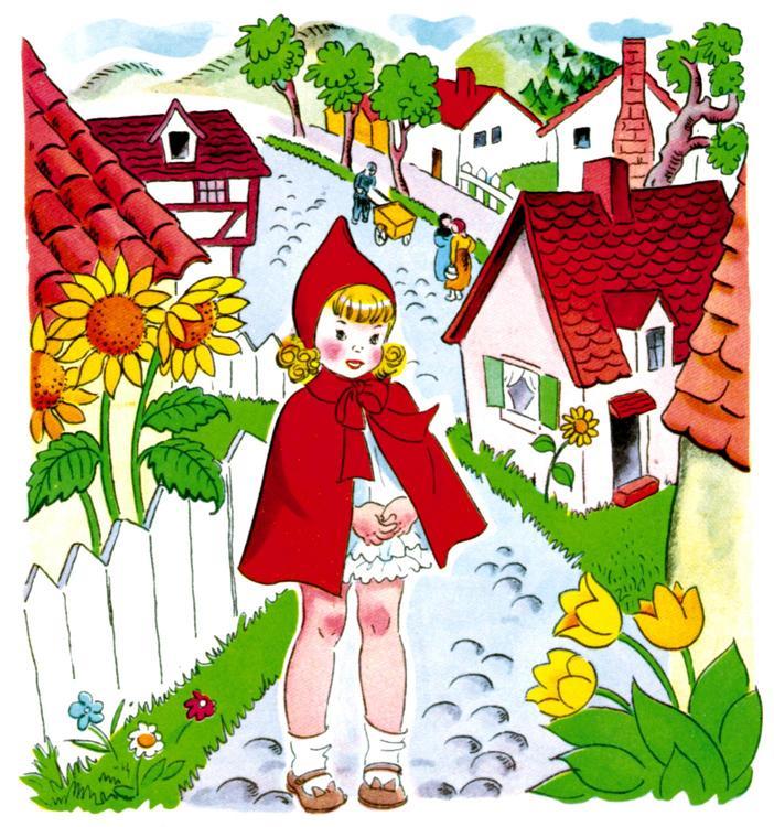 ذات الرداء الاحمر - قصة وحدوتة للاطفال رائعة بالصور Littleredridinghood3