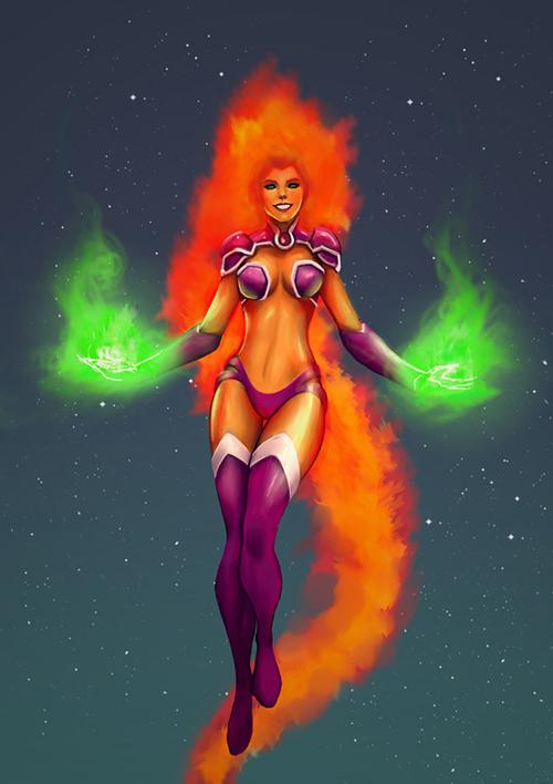 Tournoi des Personnages Préférés DC Comics (on vote pour nos persos préférés, on ne se base pas sur la force) - Page 5 Starfire
