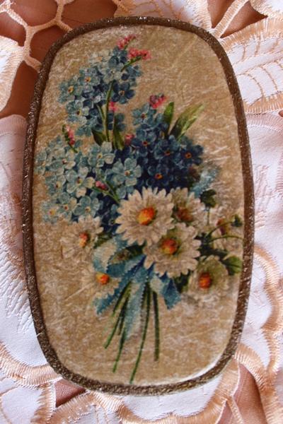 М.К. Винтажная шкатулка Букет с синей ленточкой (коллекция Винтажные цветы) Byk-e