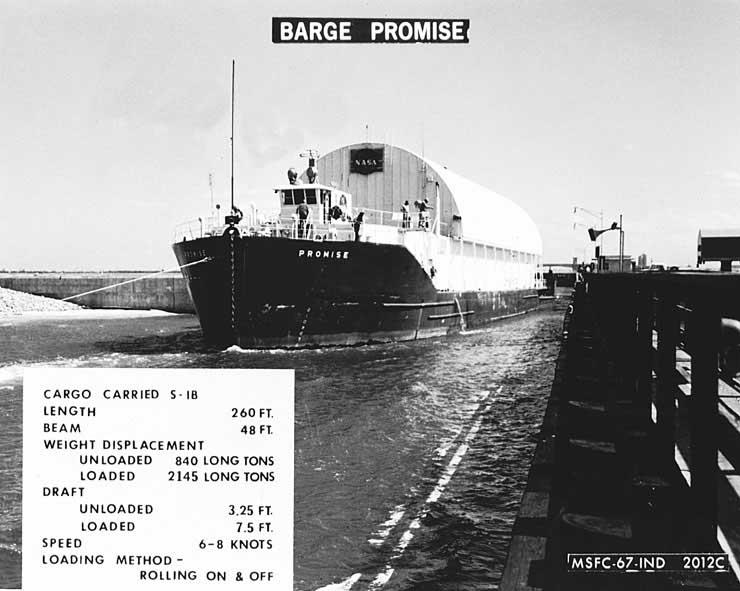 Saturn I SA-10 - 30.7.1965 Bargepromise