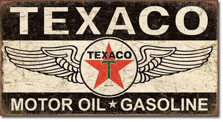 Deco plaques fer ou plaque emaillee  XL1896-Texaco_Winged_Logo