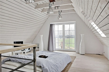 Chambres avec lambris foncé... que faire ? Peinture-chambre-blanche-en-total-look