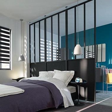 agencement salle à manger-salon et chambre dans même piéce Cloison-amovible-atelier-castorama