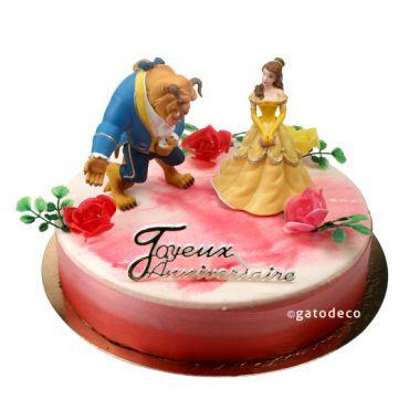 Joyeux anniversaire Rose Bleue Photo-d%C3%A9coration-g%C3%A2teau-la-belle-et-la-bete