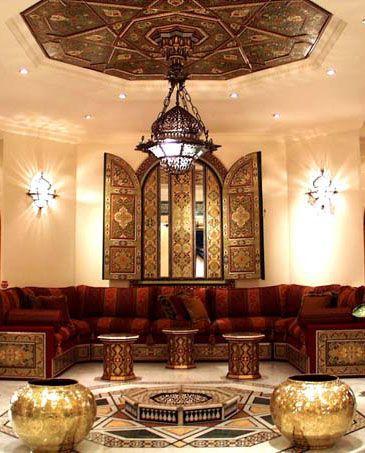 أجمل الديكورات العربية التراثية لفخامة منزلك %D8%BA%D8%B1%D9%81%D8%A9-%D9%85%D8%B9%D9%8A%D8%B4%D8%A9-7