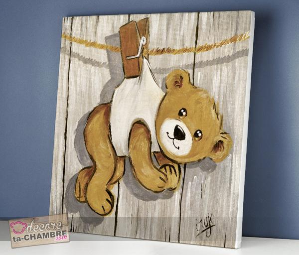 Les  Nounours  - Page 22 Cadre-deco-enfant-ourson-pince-linge