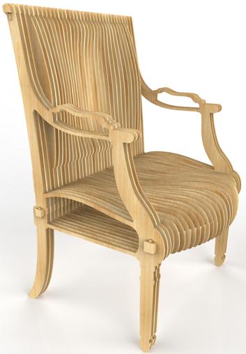 """chaise """"design"""" en CP Fauteuil-Louis-XVI-is-back-01"""