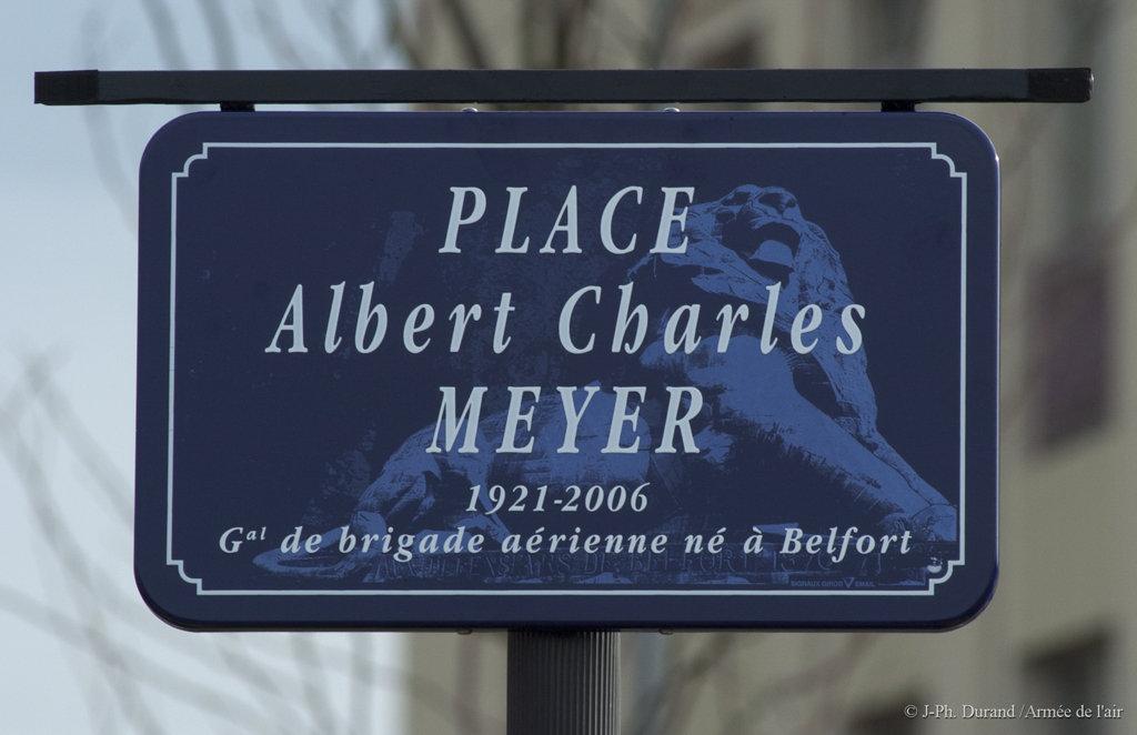 """Inauguration de la place """"général Albert Charles Meyer"""" à Belfort Place-general-meyer"""