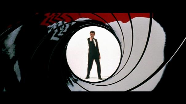 Abertura de James Bond - vista interna do cano