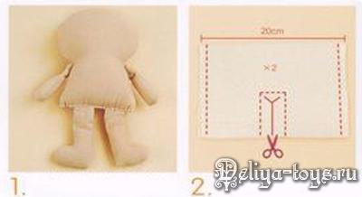 Как сшить куклу своими руками. Начинаем с простого. YAK15